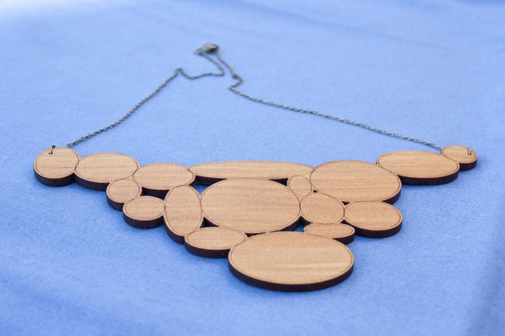 Reclaimed kauri statement necklace - $50