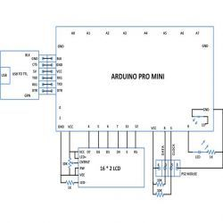 circuit diagram of using ps2 mouse as an accelerometer with arduino