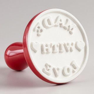 'Made With Love' Cookie Stamp - contemporary - specialty tools - by Cost Plus World Market