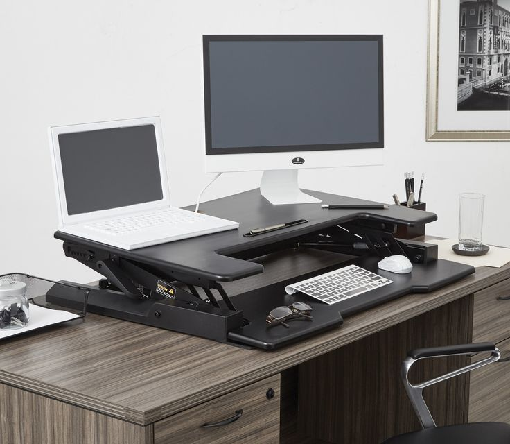 Desk Riser with 8 Locking Positions, Enabling Standing at Any Desk