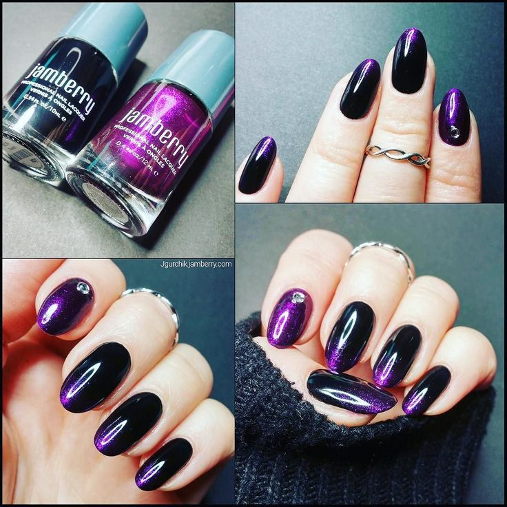 Have you tried Jamberry #lacquers because this #ombrenails look is stunning featuring #ravenjn and #Royaljn I just love it!