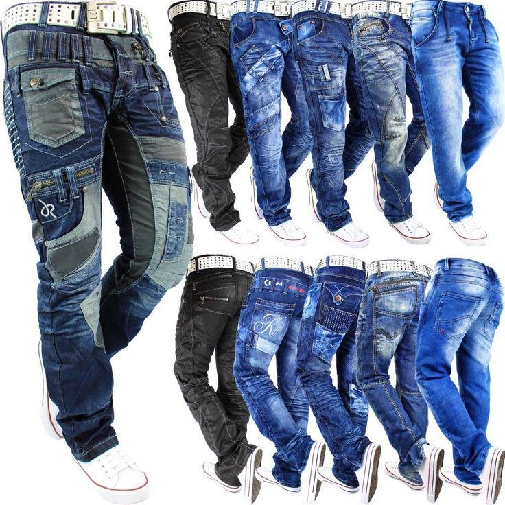 Herren Jeans Hose Mens Pants Stright Slim Fit Cargo Jogging Dope Swag Top Mod