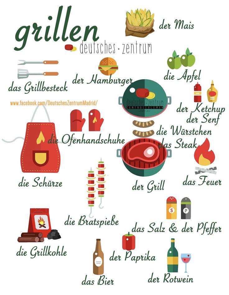 Grillen Deutsch Wortschatz Grammatik German Alemán DAF Vocabulario