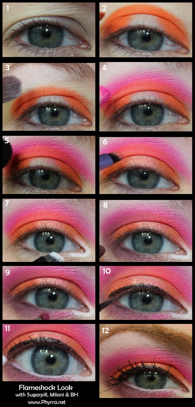 Pink and Orange Flameshock tutorial. Pin now, read later!