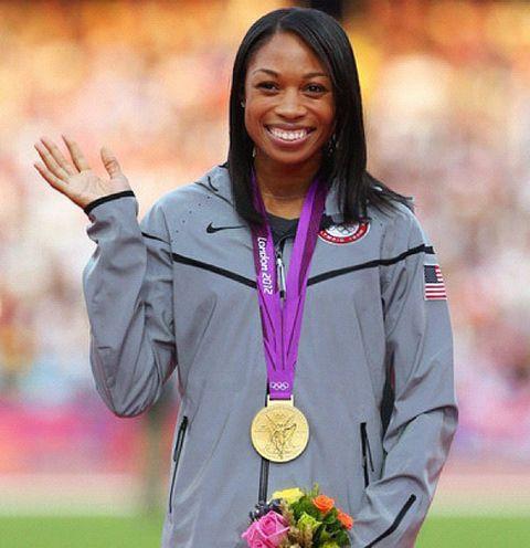 金メダル獲得のアリソン・フェリックス