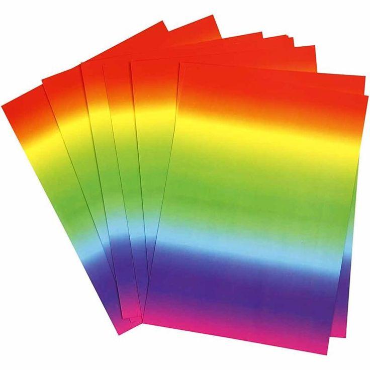 Carta Arcobaleno, 10 fogli A4