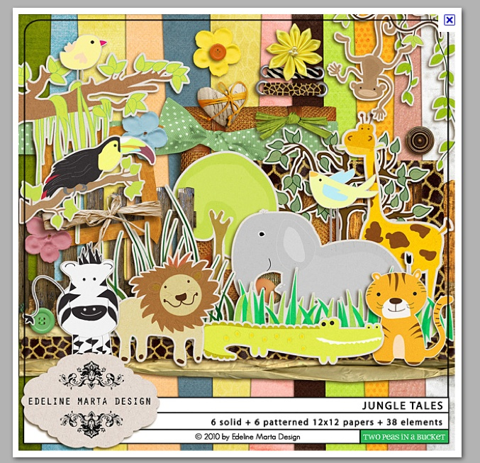 Jungle scrapbook style