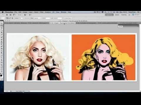 Create Andy Warhol Style Pop Art - Lady Ga Ga [Photoshop CS5] Tutorial