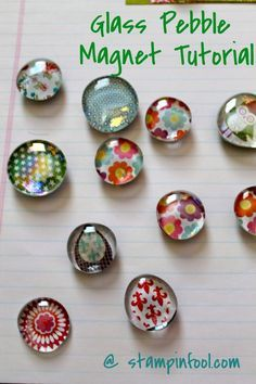 Fun DIY Craft Ideas to Sell | Glass Magnet Tutorial by DIY Ready at |http://diyready.com/25-easy-crafts-to-make-and-sell/