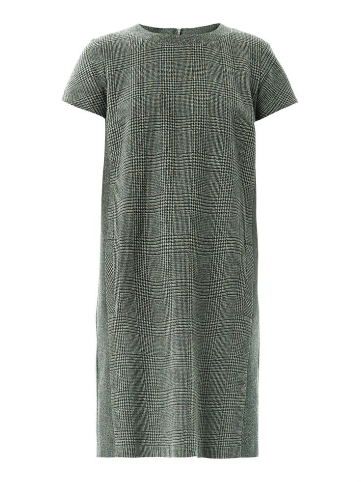 Tartan & Check Trend - Weekend by MaxMara Check Shift Dress, Dark Green, £225, John Lewis http://www.johnlewis.com/