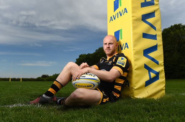Joe Simpson Photos Photos - Joe Simpson poses during the Wasps Aviva Premiershipl Media Day on May 22, 2017 in Coventry, England. - Aviva Premiership Media Day - Wasps