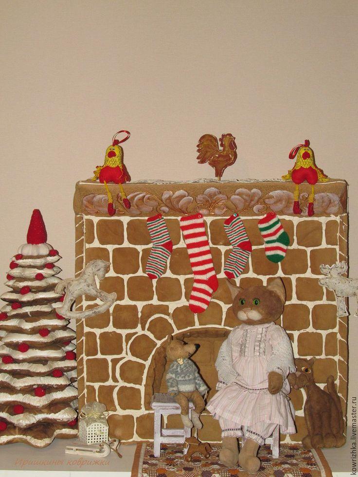 Купить Пряничный камин в кукольном доме - Ароматизированные игрушки, авторские мишки Тедди, Авторские игрушки