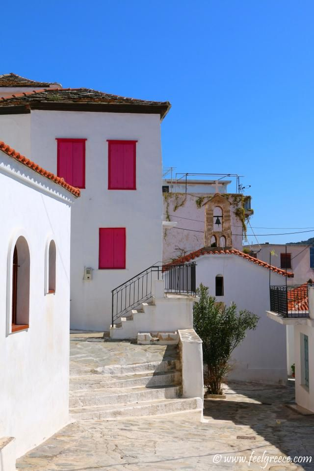 Street in the old town; photo from Skopelos Town, Skopelos