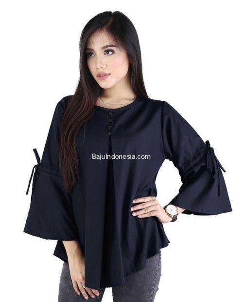 Baju wanita RND 19-2 cotton biru L-XL. Rp 176.500. #baju...