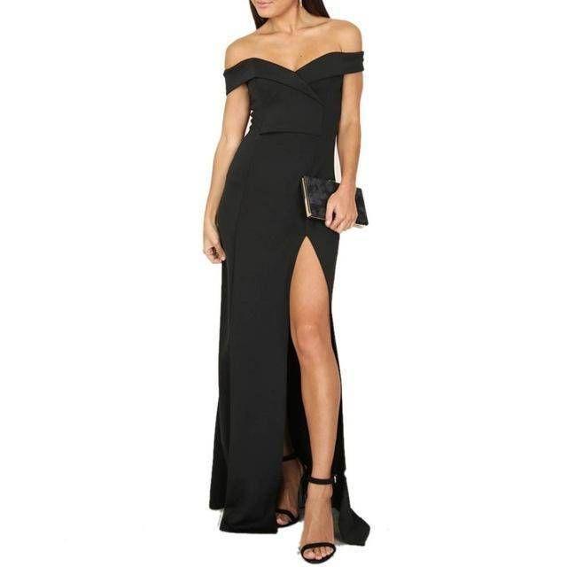 da2aead7c1978 Women's Off Shoulder Long Evening Gown Petite Maxi Dress in 2019 ...