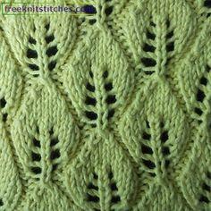 Leaf Fall knitting stitches