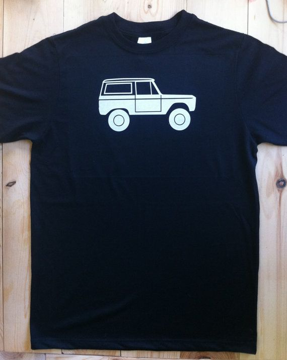 Early Classic Ford Bronco Side View TShirt Shirt Father by umm0000, $17.99