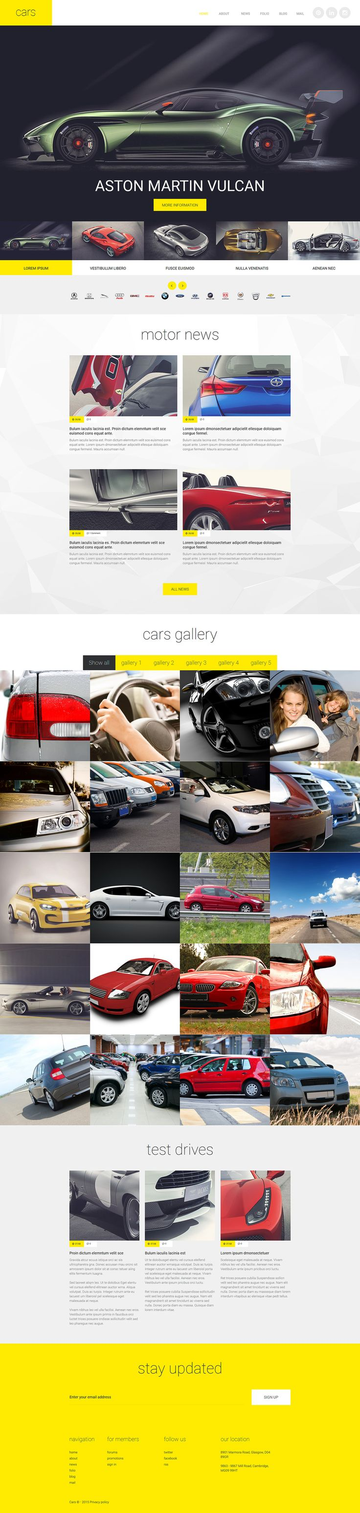 Car club template additional features comprehensive documentation and stock photos are included