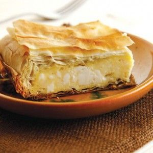 Cheese pie with white sauce (Besamelopita) -See details http://www.icookgreek.com/en/recipes/dishes/item/cheese-pie-with-white-sauce-besamelopita?category_id=283