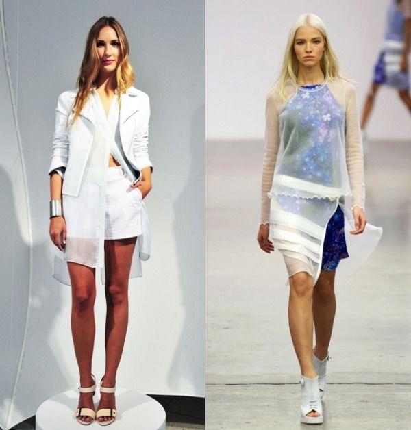 Sheer layering fashion SS14