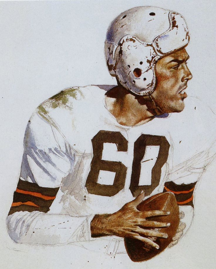 Otto Graham, Cleveland Browns by Merv Corning.