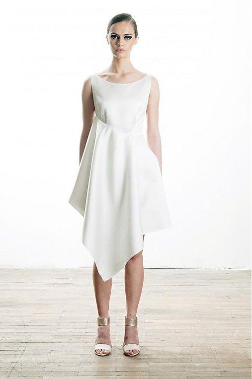 meandm / Asymetrické saténové šaty, me
