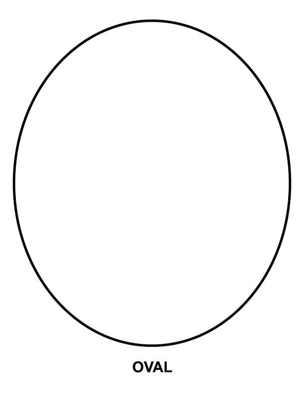 This is a picture of Intrepid Printable Oval Shape