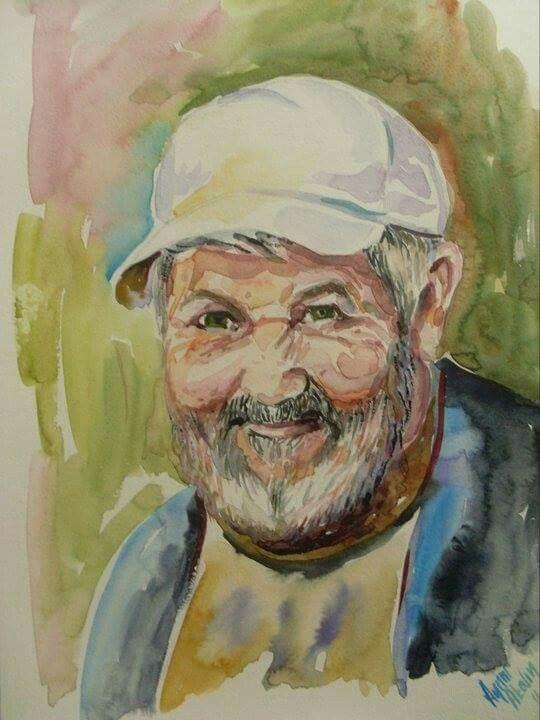Watercolor by Aynur Akalin Man..