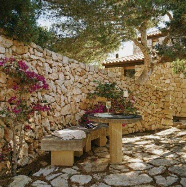 60 besten Garten Bilder auf Pinterest Garten terrasse - steinmauer garten mediterran