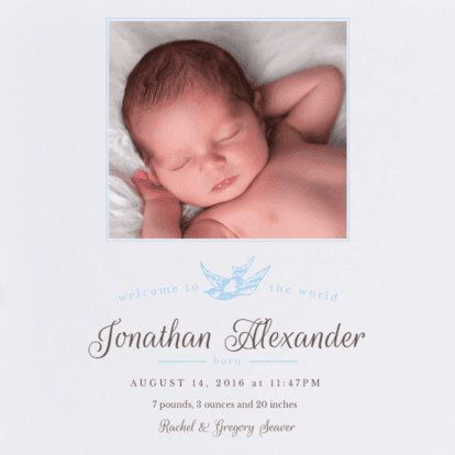 Boy Sparrow Birth Announcement. Baby. Design Fee by PartyGlamourShopBaby on Etsy https://www.etsy.com/listing/262523759/boy-sparrow-birth-announcement-baby