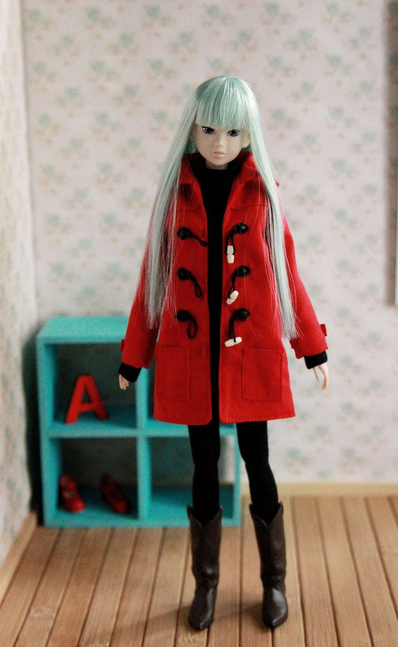 Toggle Coat for Momoko doll fits Unoa light by LazyDaisyWorkshop