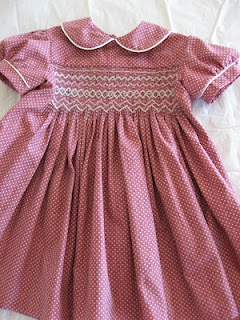 Smocked dress for special little one