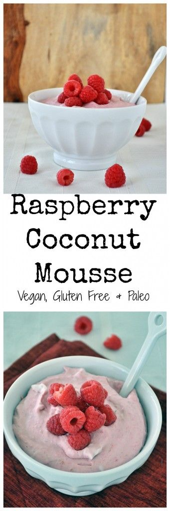 All you need is 3 ingredients and 5 minutes to make this heavenly raspberry coconut mousse. Rich and creamy with ZERO refined sugar. Vegan & gluten free.