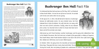 Bushranger Ben Hall Fact File