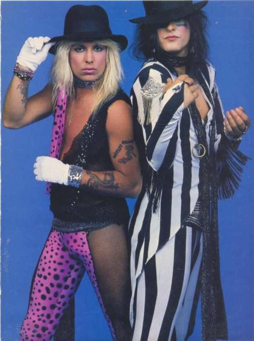 Vince Neil and Nikki Sixx - this is disturbing on SO many ...