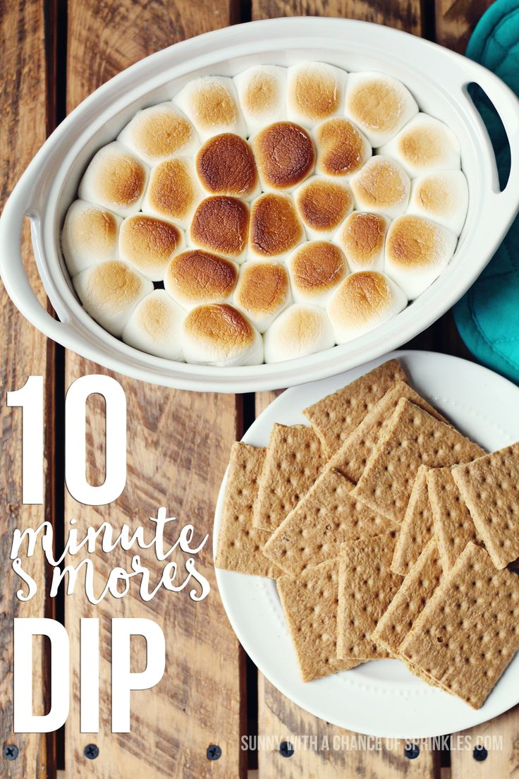 S'mores Dip Recipe - Sunny with a Chance of Sprinkles Snickerdoodle Sunday Party