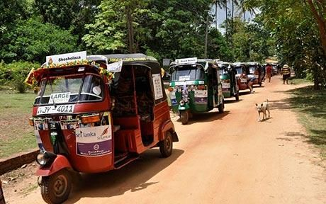 Rattle and roll on a tuk-tuk race through Sri Lanka