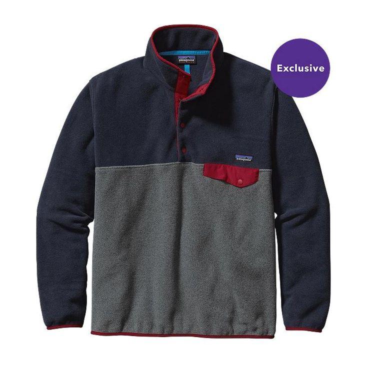 Patagonia Men\'s Lightweight Synchilla\u00AE Snap-T\u00AE Fleece Pullover - Smolder Blue SMDB