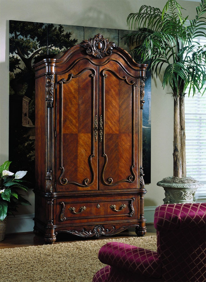 Pulaski Edwardian Armoire 2 545 20 Hook Amp Storage What