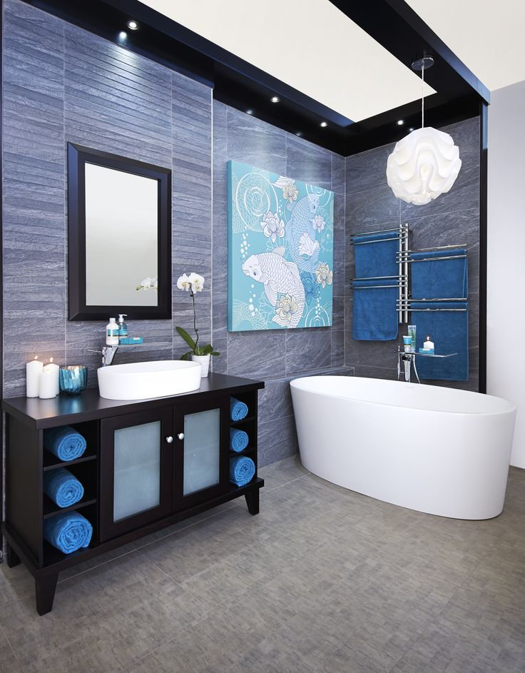 Beautiful Blue #bathroombizarre #bathroom #inspiration #style #modern #classic