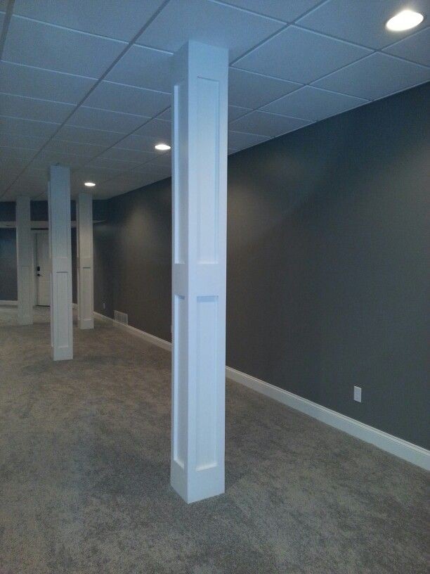 basement finished poles basement pinterest home improvements