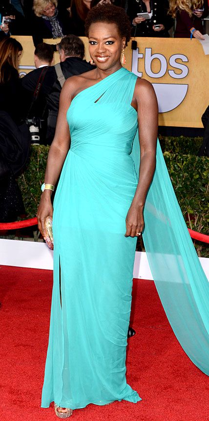 Viola Davis' Best Looks Ever - In Monique Lhuillier, 2013 from #InStyle