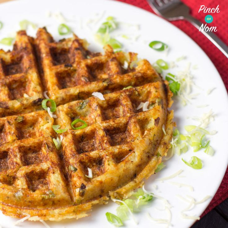 1 Syn Potato, Cheese and Onion Waffles | Slimming World