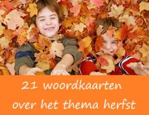 Woordkaarten herfst