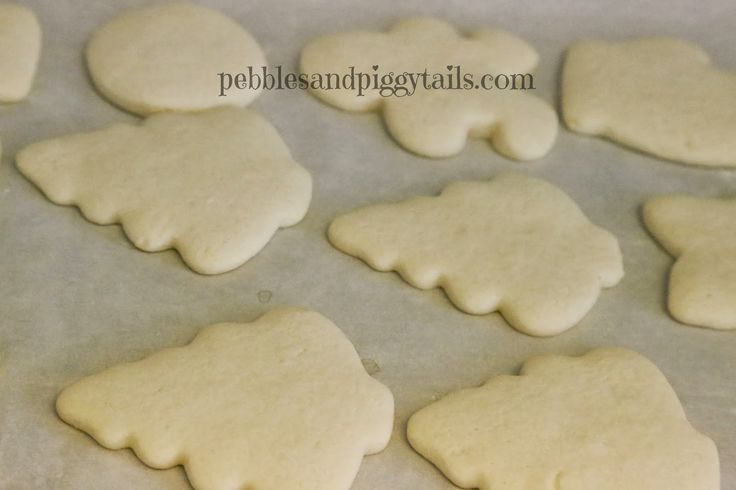 Simple Sugar Cookies.  The easiest recipe and the best taste ever. No weird ingredients, just the regular cookie ingredients. They are buttery and soft and shape well.