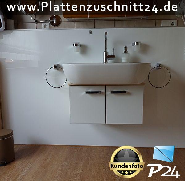 Badezimmerverkleidung mit PLEXIGLAS® Weiss