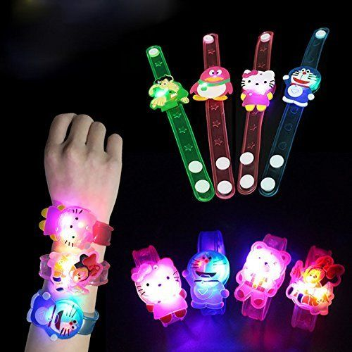 Gifts Online Birthday Return For Kids Set Of 24 Assorted Cartoon Characters Led Light Bracelets Favourite