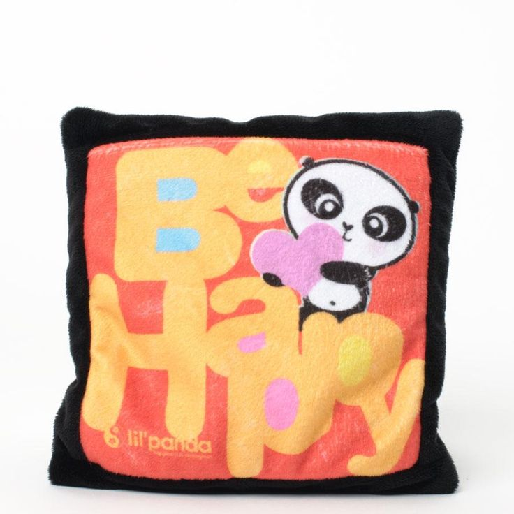 Lil Panda - BE HAPPY BEAN BAG PILLOW WITH FRONT POCKET