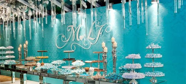 Decoração de casamento azul turquesa Azul Tiffany Casamento
