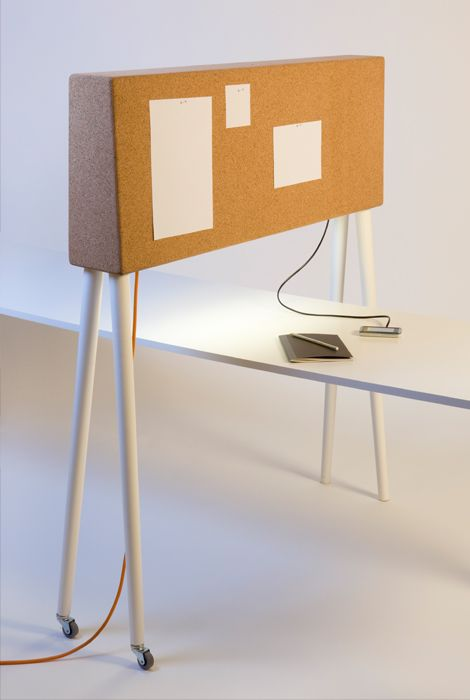 GIRAFFE a portable spatial divider- I'd use as a inspiration board I could drag around